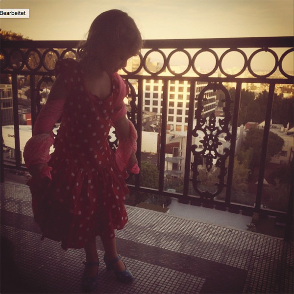 We are in LA, but all she dreams of is Flamenco! #loveforspain